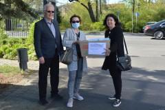 Spendenaktion in Cottbus mit BWA Repräsentanten